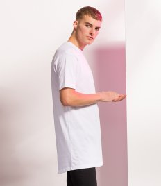 SF Men Long Line Dipped Hem T-Shirt