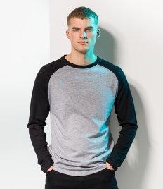 SF Men Long Sleeve Baseball T-Shirt