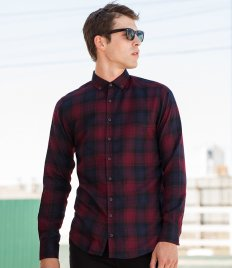 SF Men Brushed Check Casual Shirt