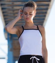 SF Ladies Feel Good Contrast Strappy Vest