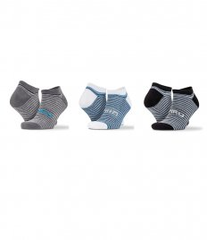 Spiro 3 Pack Mixed Stripe Sneaker Socks