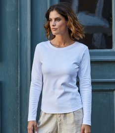 Tee Jays Ladies Long Sleeve Interlock T-Shirt