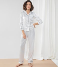 Towel City Ladies Satin Long PJ