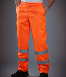 Yoko Hi-Vis Poly/Cotton Work Trousers