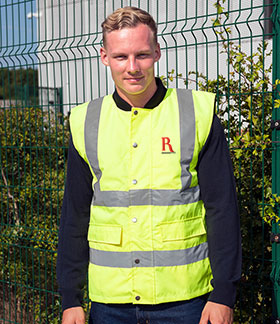 High visibility jacked with embroidered logo