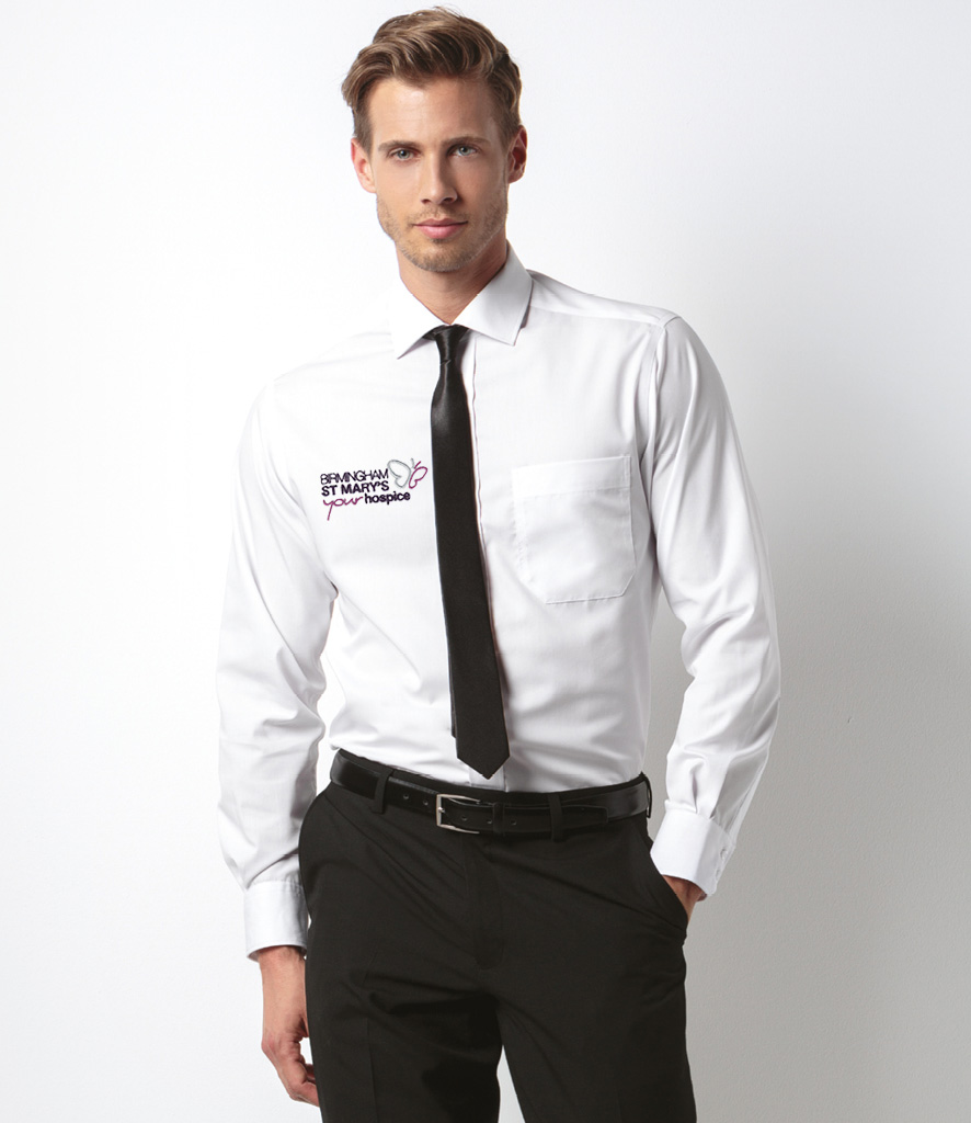 Office shirt with embroidery