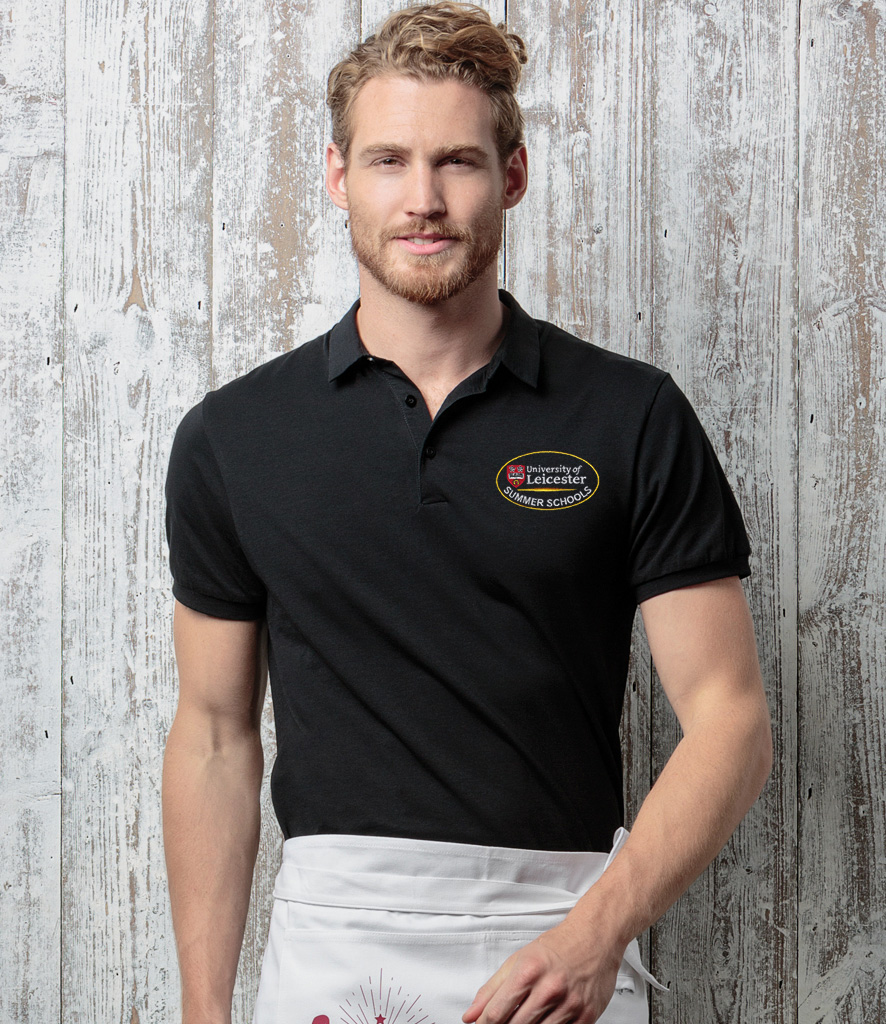 Workwear polo shirt with embroidered logo